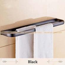 Одноцветные латунные двойные рельсы, держатель для полотенец 60 см, полки для ванной комнаты, настенное крепление, аксессуары для ванной ком...(Китай)