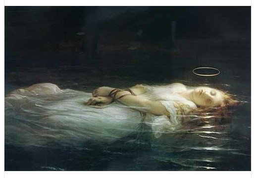 The Young Martyr Paul Delaroche oil painting repro hand