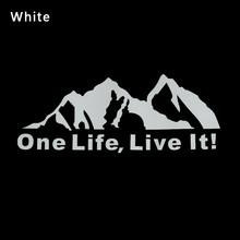 Виниловые наклейки на окна виниловые наклейки ONE LIFE LIVE IT! Аксессуары для стайлинга автомобилей внедорожного горного силуэта(Китай)
