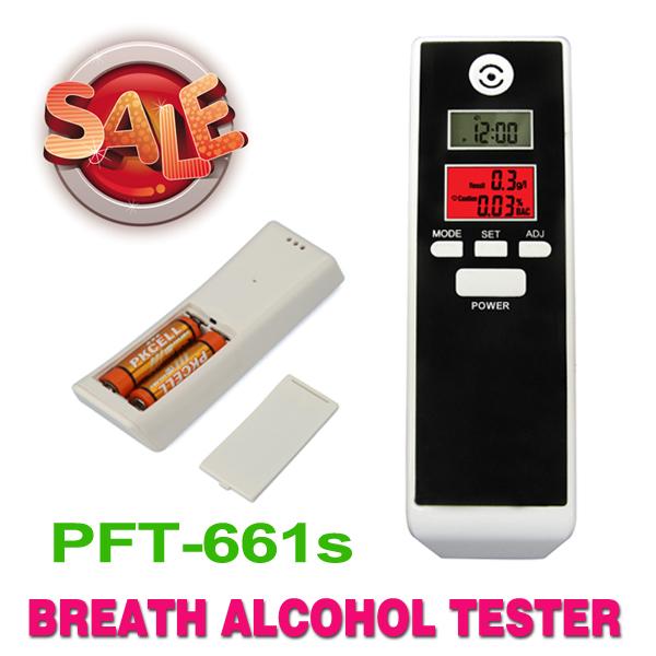 Новый красной подсветкой жк-цифровой тестер алкоголя алкометром алкоголь детектор, Двойной жк-дисплей часы, Бесплатная доставка