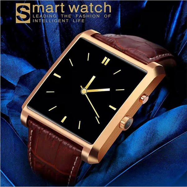2015 LF06 DM08 Bluetooth Smart Watch Smartwatch Luxury Leather IPS Business Wristwatch Full View HD Screen For Android IOS Phone