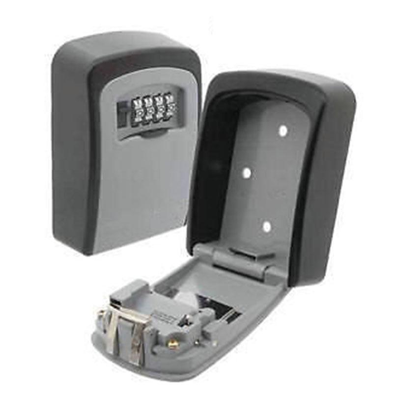 Key Storage Box Digit Wall Mount Combination Lock Four