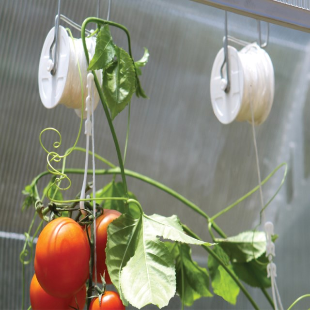 Tomato Roller Hook With Tomato Clip Greenhouse Accessory