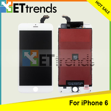 100% Original New LCD display for iPhone 6 LCD digitizer Touch screen Glass Assembly with Frame White DHL Free Shipping