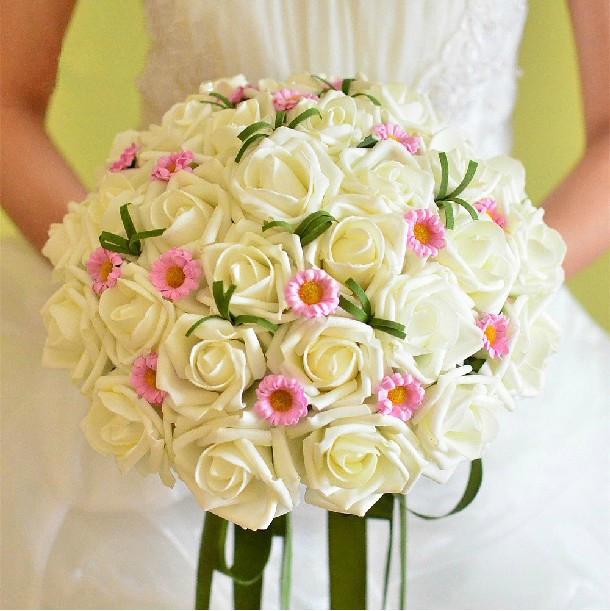 Silk Flower Wedding Bouquets For Sale: Free Shipping, Hot Sale Silk Artificial Bride Hands