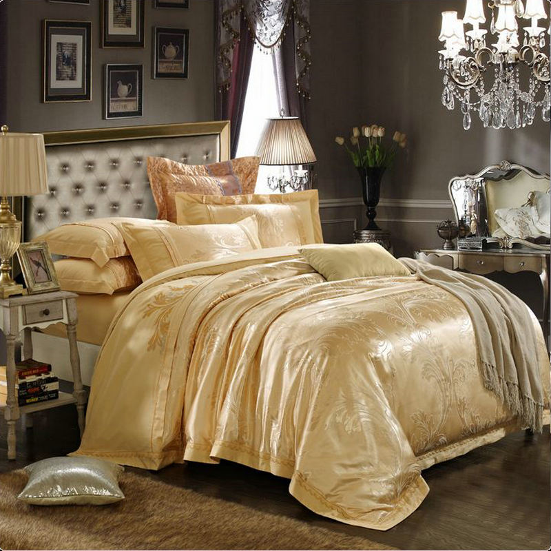 Online Get Cheap Gold Satin Comforter Aliexpress Com