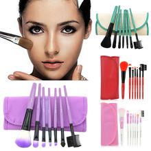 7pcs/Set 6 color Foundation Eyeshadow Powder Eyebrow Eyeliner Makeup Brushes Make Up Brush Set Professional Cosmetic Tools Kit