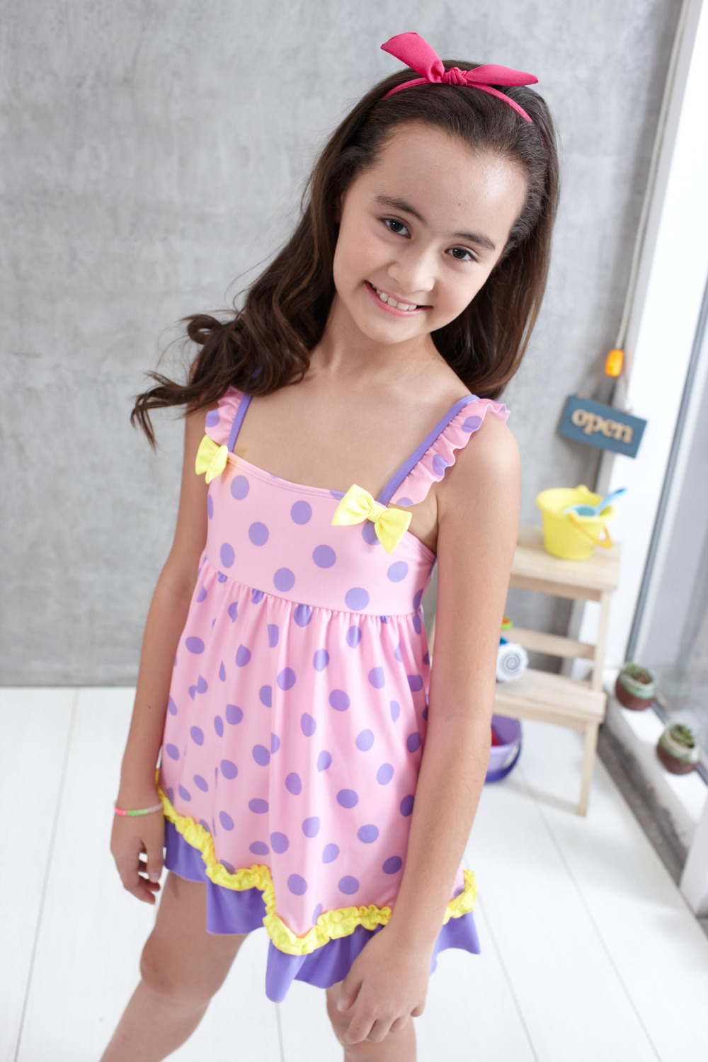 This girls bathing suit perfect for summer vacation,beachwear Girls Swimsuit Falbala High Waisted Bikini Set Halter Neck Swimwear Dots Printing Bathing Suits. by XUNYU. $ - $ $ 16 $ 20 99 Prime. FREE Shipping on eligible orders. Some sizes/colors are Prime eligible.