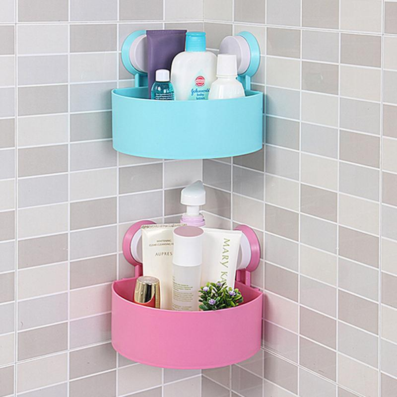 Storage Boxes Bathroom: Lovely Bathroom Corner Rack Organizer Wall Shelf With