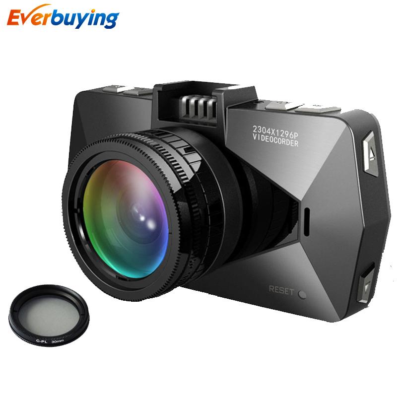 Best Ambarella A7 LA70 Car DVR Camera Recorder GPS Logger 1080P/60FPS 170 Degree Night Vision WDR With polarizing Filter