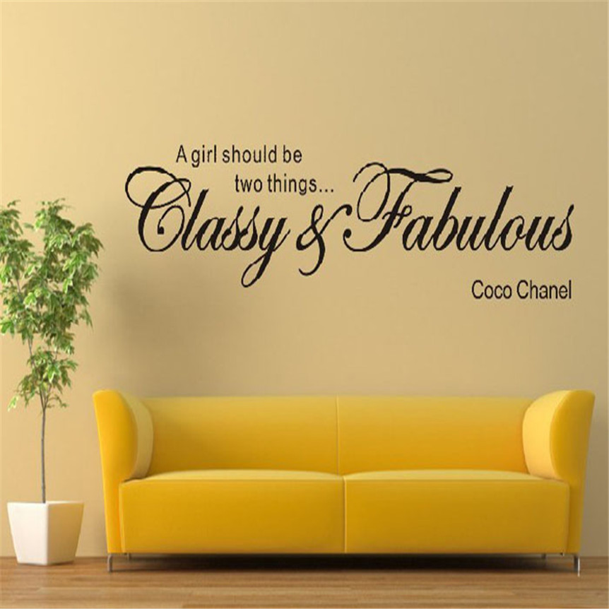 Lovely Pets Factory Price Classy Fabulous Removable Art Vinyl Mural Home Room Decor PVC Wall Stickers or diy poster Aug18