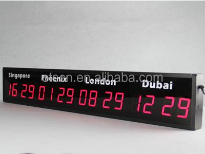 Horloge Murale Multi Fuseaux