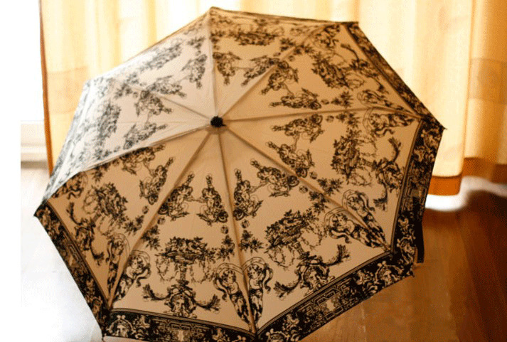 japonais ange peinture arc vague point trois pliage parapluie parasol uva parapluie dans. Black Bedroom Furniture Sets. Home Design Ideas