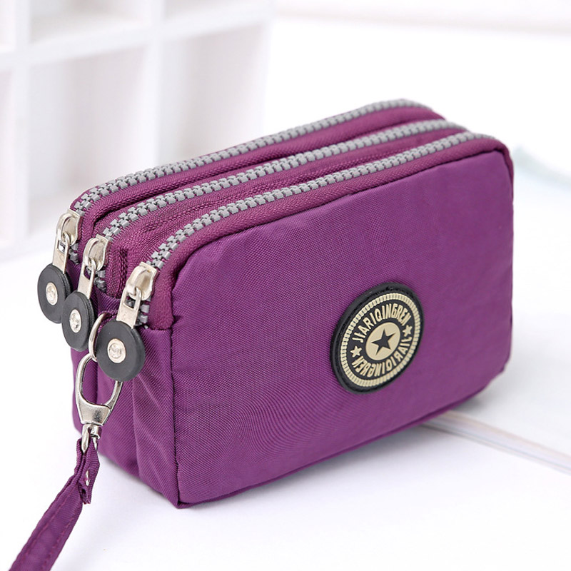 Coin Purse Women Small Wallet Washer Wrinkle Fabric Phone