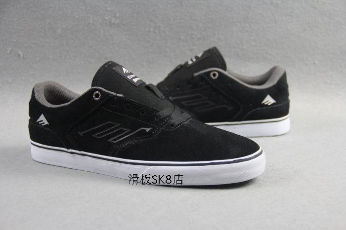 Emerica Reynolds знак тип скейтборд обуви свободного покроя спортивная обувь уличная анти-меховой черные кроссовки