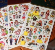 1 Sheet New DIY Funny Alice Snow White Felt Photo Album Envelope Seal Scrapbook PVC Sticker Phone Decoration Stamp H0139