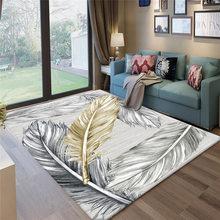 Современный абстрактный ковер RFWCAK с цветами для гостиной, спальни, нескользящий большой коврик, напольный коврик, модные кухонные ковры(Китай)