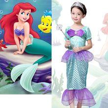 The Little Mermaid Costume Girls Ariel font b Fancy b font Princess Cosplay font b Dresses