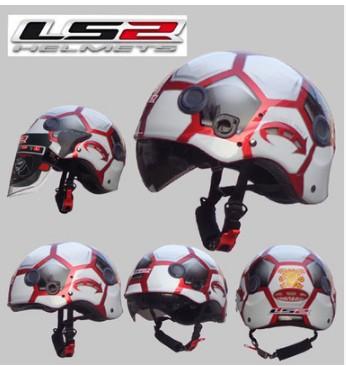 Бесплатная доставка аутентичные LS2 OF101 мотоциклетный шлем переносной двойной зеркало моющиеся подкладка s-xxl