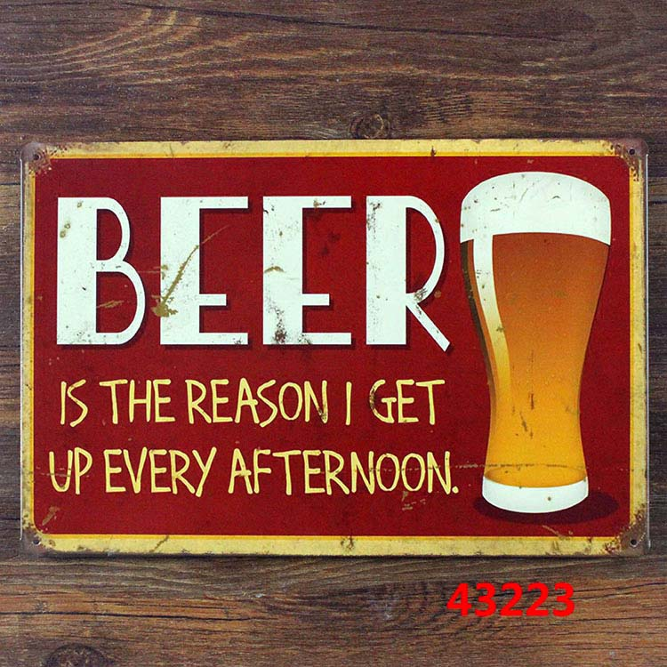 Metal Signs For Home Decor: New 2015 20x30cm Metal Tin Signs Beer Vintage Metal Signs