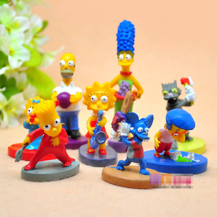8 Pieces Simpsons Family 2 5CM High Dolls Action Figures ToysTA0038