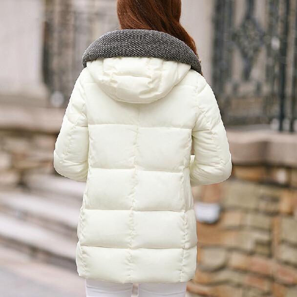 2015 зима новинка бренд женщин пуховик женский белый черный красный зеленый серый хлопка-ватник тонкий теплый загущающие женщин пиджаки
