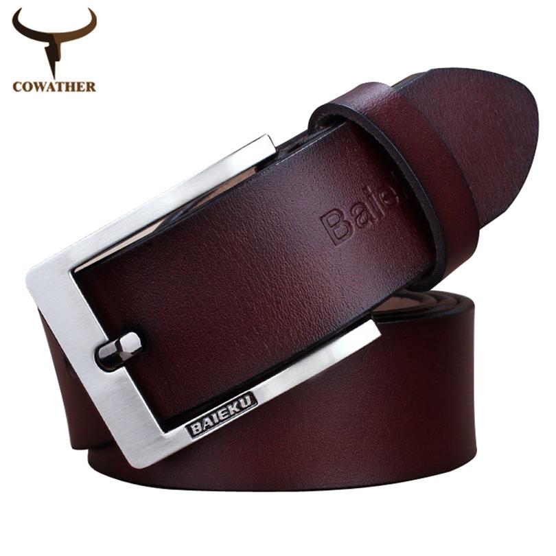 Newest designer belts men high quality cow genuine leather vintage pin buckle ceinture 2015 mens belts