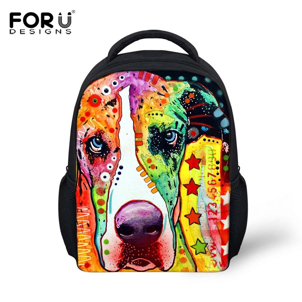 Richly Colorful Pet Dog School Bags for Boy Girl Kid Schoolbag Baby Bookbag Kindergarten Children Mini Backpack Mochila Infantil