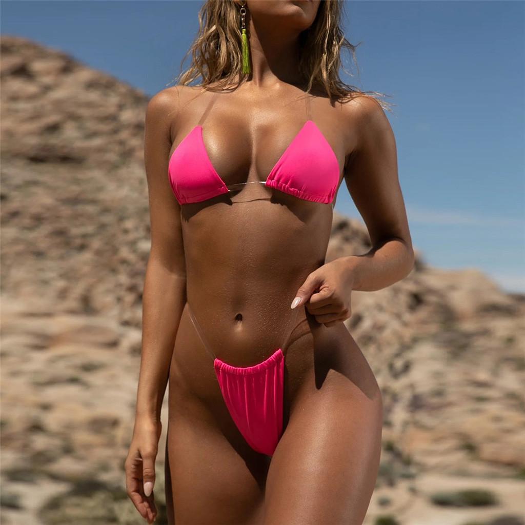 Transparent micro bikini