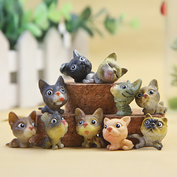 KAWAII 10PCS/lot Mini Dog Home  Decoration Animals Action Figures Mini Dogs Model Decoration Simulation Puppy Toys