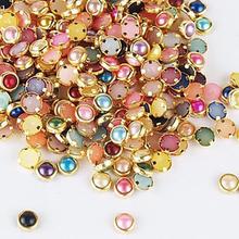 1 Pcs nova chegada Nail Art liga de strass para unhas de ouro da moda colorida Nail Art decoração