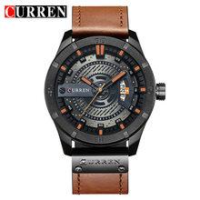 2018 люксовый бренд CURREN Мужские Военные Спортивные часы Мужские кварцевые часы мужские повседневные кожаные Наручные часы Relogio Masculino(Китай)