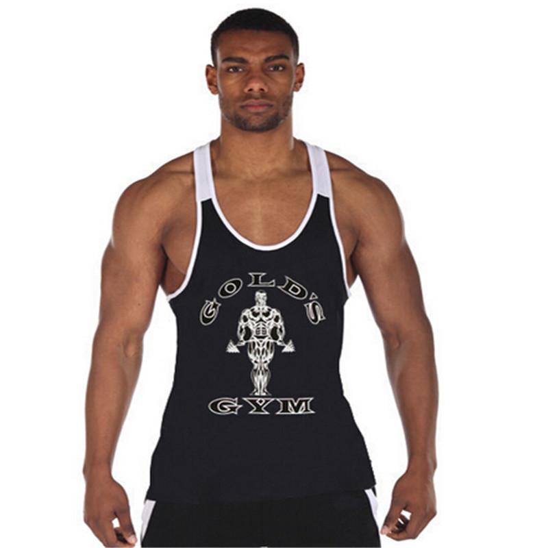 Golds Gym Stringer Tank Top Men Bodybuilding Clothing and