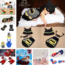 2016 Latest Crochet Baby Hats Photo Props Animal Designs Infant Baby Photography Porps Costume Knitted Hat