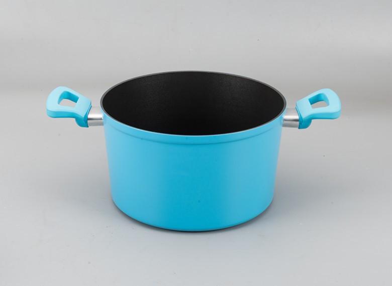 New Cookware Blue Matt Coating 9 Pcs Non Stick Aluminium