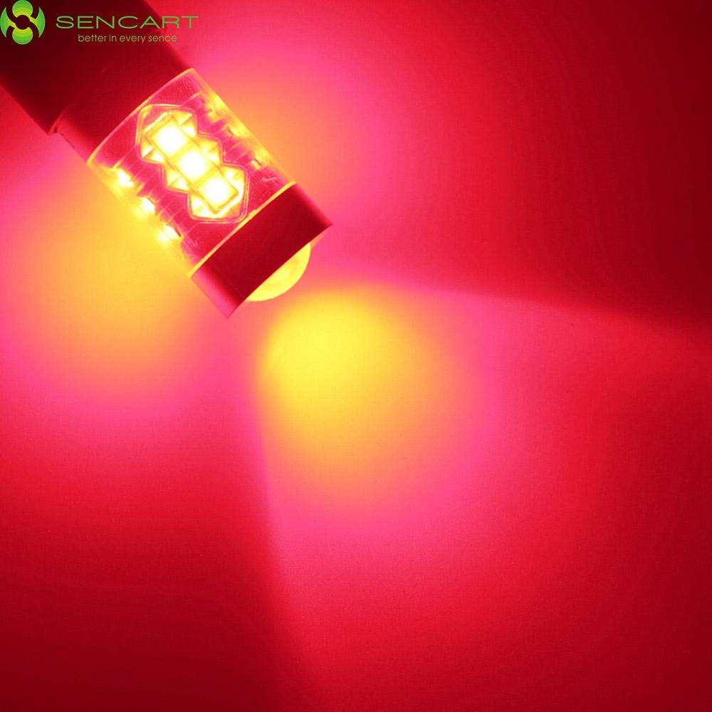 Sencart 1156 ( P21W Ba15s ) 80 Вт фонарь заднего хода указатель поворота автомобиля стоп сигнал 16 xCREE XP-E из светодиодов 4500LM 6500 К