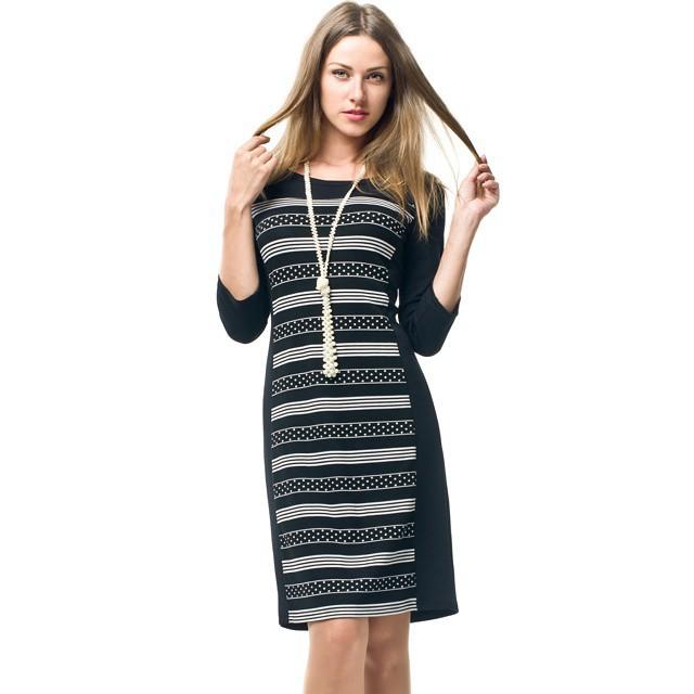 Осень зима стиль новых рабочих 2015 высокое качество горячая распродажа сексуальная прямо плед half-рукава о-образным вырезом свободного покроя встреча платье
