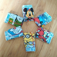 2016 New 6pcs/lot Children Underwear Boy Boxer Shorts 2-10T Kids Baby Cartoon Panties Boys Underwear bragas calcinhas infantis