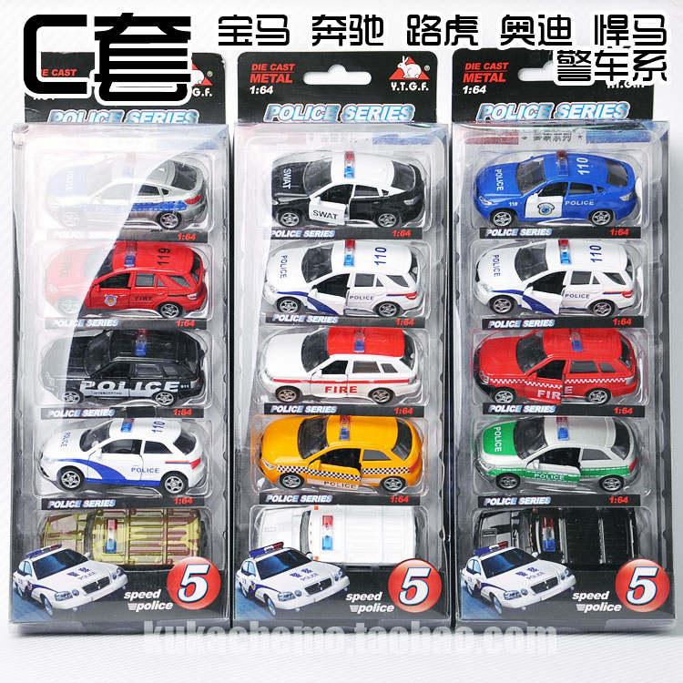 1 64 diecast alloy toy car model metal barrowload open the door 5 pieces car set christmas gift. Black Bedroom Furniture Sets. Home Design Ideas