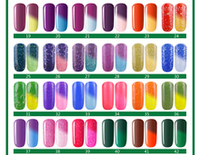 Choose 1 Pc High Quality Soak Off Temperature Color Changing UV Nail Gel Polish Total 60