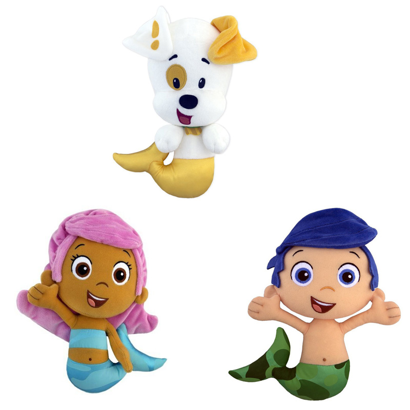 2016 New Bubble Guppies 18cm Puppy Gil Molly Deema Dolls Accessories Plush Toys Fashion Cartoon Plush