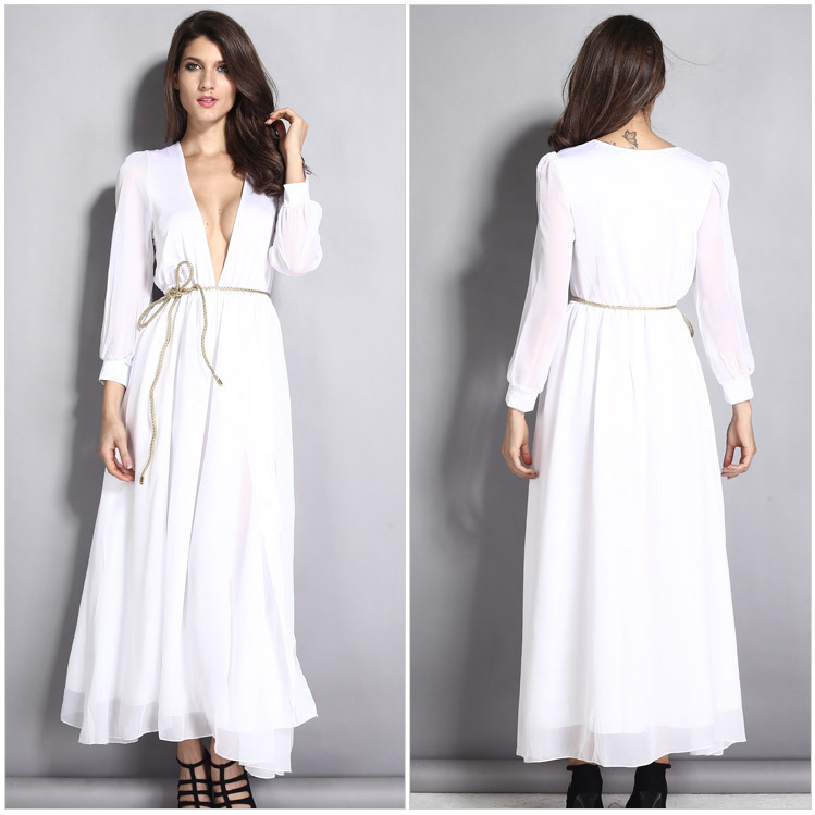 long sleeve v neck maxi dresses long sleeve v neck maxi dresses ... 4dbd5c0e8