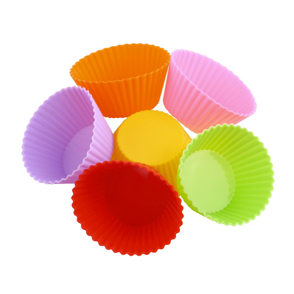 2016 12pcs Lot High Quality Round Shape Silicone Muffin