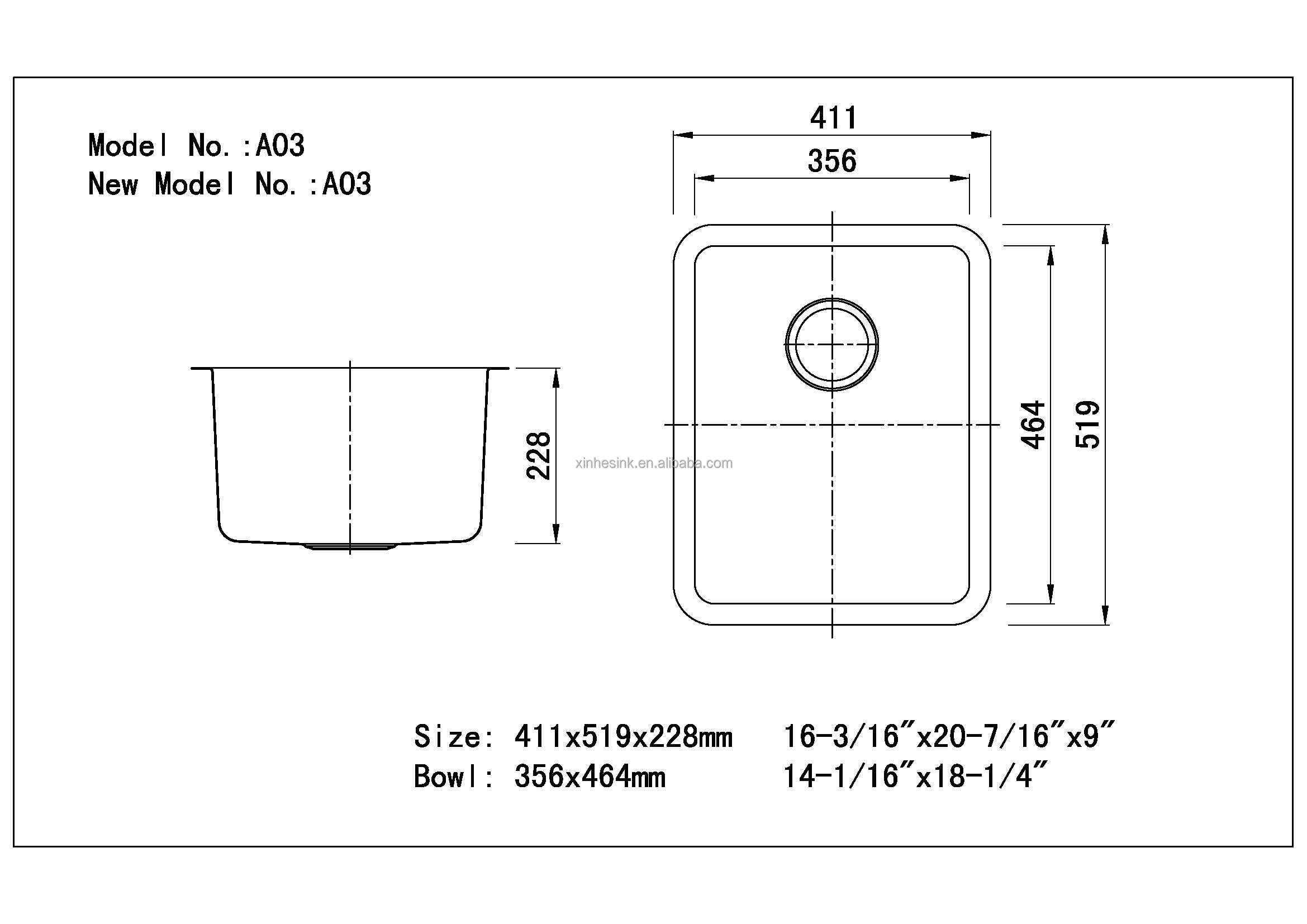 Kitchen Sink Waste Hole Size