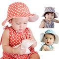 2016 Sweet Baby Sun hat Outdoor Polka Dots Beach Ear Hats Summer Girls Hat LD789