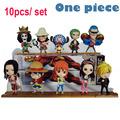 One Piece 10pcs set 68S Anime Luffy Zoro Sanji Nami Chopper Combination Movie Figure Action Model