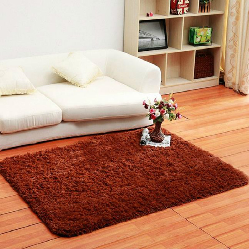 Cotton Carpet Living Room Dining Bedroom Area Rugs Anti: 80*120cm Fluffy Rug Anti Slip Shag Area Rug Living Dining