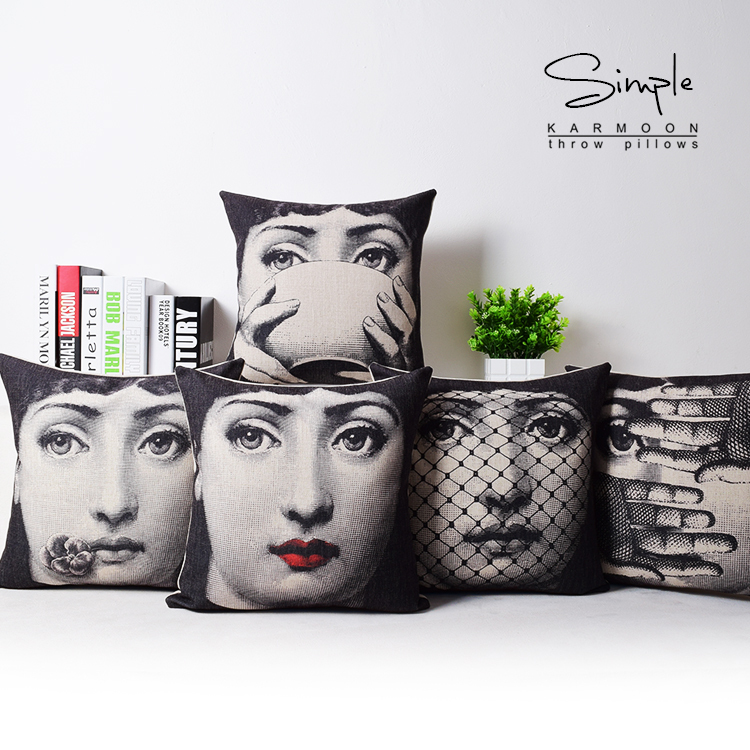 2015 <font><b>Italian</b></font> Fornasetti Pillow Art Bedroom A Living Room Cushion Bedding Set Fashion <font><b>Decorative</b></font> <font><b>Home</b></font> pillow dakimakura