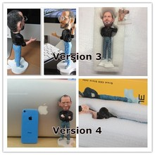 18cm Steve Jobs figure resin crafts Artificial Sculpture Souvenir wear glasses