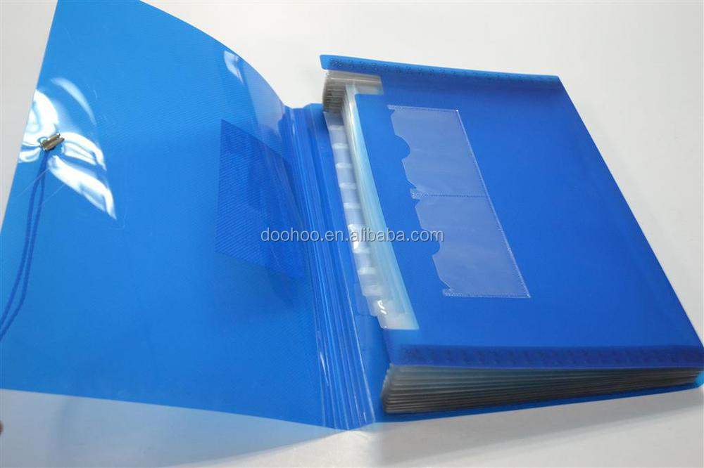 13 Pockets Pp Decorative Expanding File Folders A4 Plastic